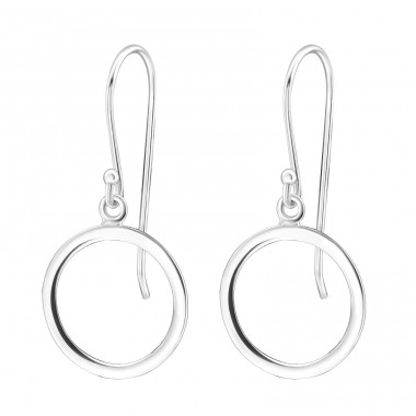Circle - 925 Sterling Silver Basic Earrings A4S31923