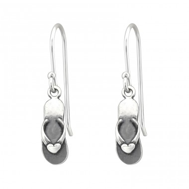 Sandal - 925 Sterling Silver Basic Earrings A4S32155