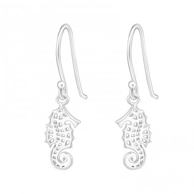 Seahorse - 925 Sterling Silver Basic Earrings A4S32160