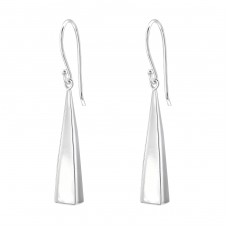 Triangle - 925 Sterling Silver Basic Earrings A4S33306