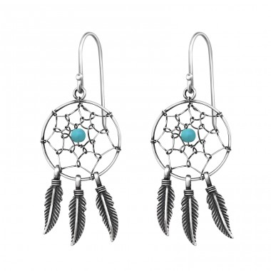 Dreamcatcher - 925 Sterling Silver Basic Earrings A4S33455