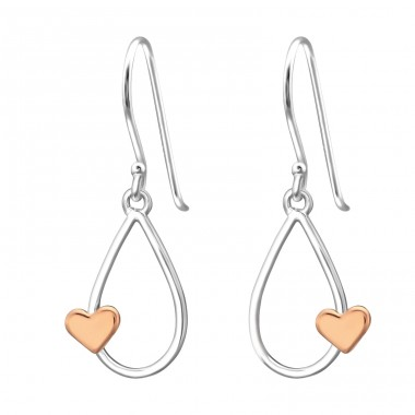 Teardrop - 925 Sterling Silver Basic Earrings A4S34502