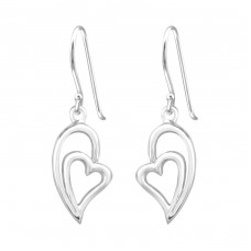 Heart - 925 Sterling Silver Basic Earrings A4S34839