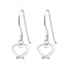 Heart - 925 Sterling Silver Basic Earrings A4S34983