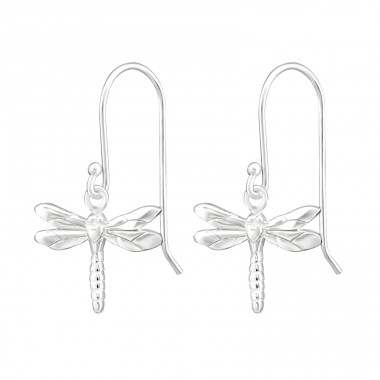 Dragonfly - 925 Sterling Silver Basic Earrings A4S35120