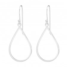 Pear - 925 Sterling Silver Basic Earrings A4S35129