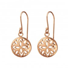 Patterned - 925 Sterling Silver Basic Earrings A4S35207