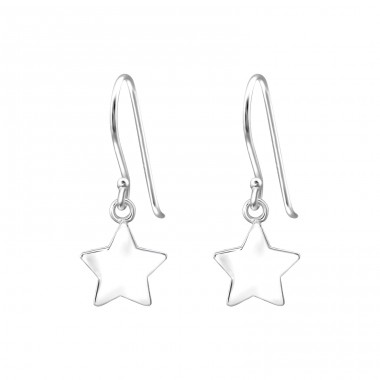 Star - 925 Sterling Silver Basic Earrings A4S35305