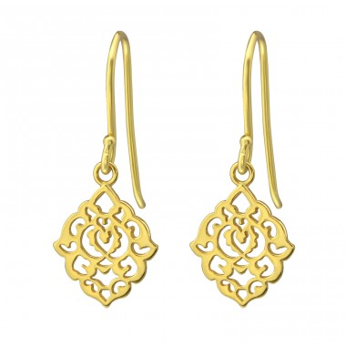 Filigree - 925 Sterling Silver Basic Earrings A4S35314