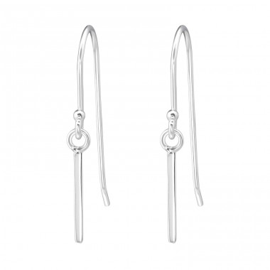Bar - 925 Sterling Silver Basic Earrings A4S35418