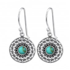 Ethnic - 925 Sterling Silver Basic Earrings A4S36074