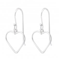 Heart - 925 Sterling Silver Basic Earrings A4S36120