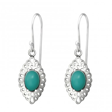 Marquise - 925 Sterling Silver Basic Earrings A4S36446