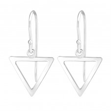 Triangle - 925 Sterling Silver Basic Earrings A4S36485