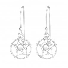 Dream Catcher - 925 Sterling Silver Basic Earrings A4S36488
