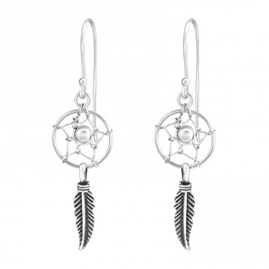 Dream Catcher - 925 Sterling Silver Basic Earrings A4S36489