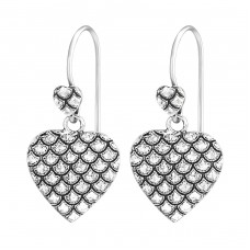 Double Heart - 925 Sterling Silver Basic Earrings A4S36615