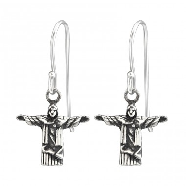 Jesus - 925 Sterling Silver Basic Earrings A4S36696