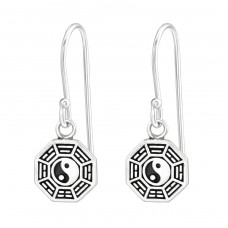 Yin-Yang - 925 Sterling Silver Basic Earrings A4S36697