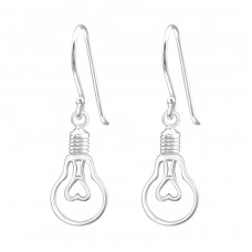 Light Bulb - 925 Sterling Silver Basic Earrings A4S36698
