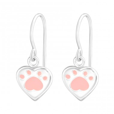 Paw Print - 925 Sterling Silver Basic Earrings A4S36990