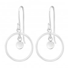 Circle - 925 Sterling Silver Basic Earrings A4S36992