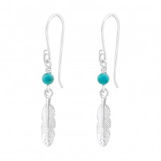 Feather - 925 Sterling Silver Basic Earrings A4S37060