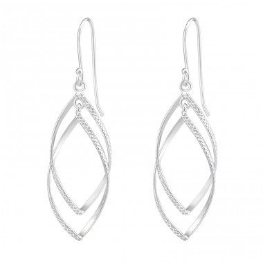 Twisted - 925 Sterling Silver Basic Earrings A4S37116