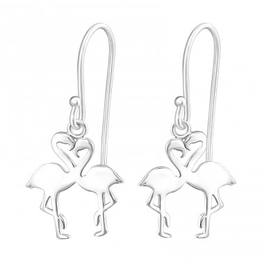 Flamingo Lover - 925 Sterling Silver Basic Earrings A4S37262
