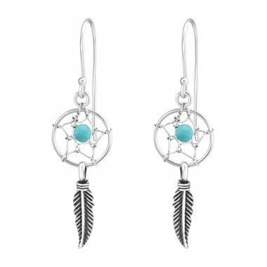 Dreamcatcher - 925 Sterling Silver Basic Earrings A4S37356