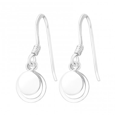 Circle - 925 Sterling Silver Basic Earrings A4S37802