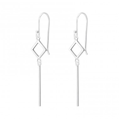 Geometric - 925 Sterling Silver Basic Earrings A4S37805