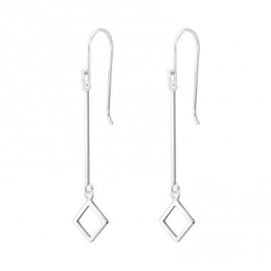 Geometric - 925 Sterling Silver Basic Earrings A4S37806