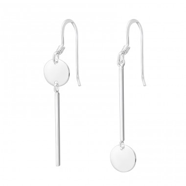 Geometric - 925 Sterling Silver Basic Earrings A4S37809