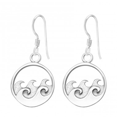 Wave - 925 Sterling Silver Basic Earrings A4S37853