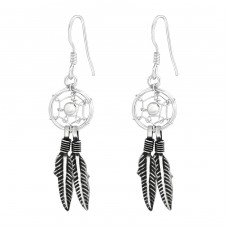 Dreamcatcher - 925 Sterling Silver Basic Earrings A4S37950