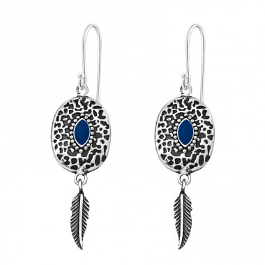 Ethnic - 925 Sterling Silver Basic Earrings A4S37968