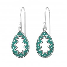 Teardrop - 925 Sterling Silver Basic Earrings A4S37969