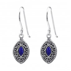 Marquise - 925 Sterling Silver Basic Earrings A4S38568