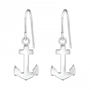 Anchor - 925 Sterling Silver Basic Earrings A4S38608