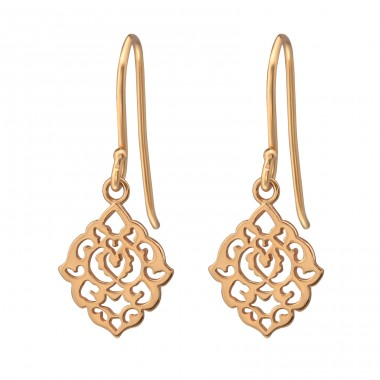 Filigree - 925 Sterling Silver Basic Earrings A4S38655