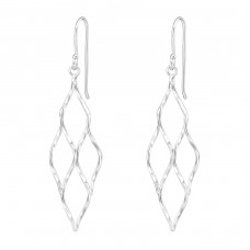 Geometric - 925 Sterling Silver Basic Earrings A4S38687