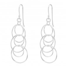 Geometric - 925 Sterling Silver Basic Earrings A4S38688