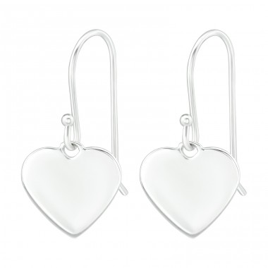 Heart - 925 Sterling Silver Basic Earrings A4S38767