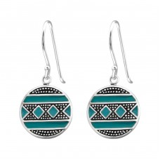 Ethnic - 925 Sterling Silver Basic Earrings A4S39076