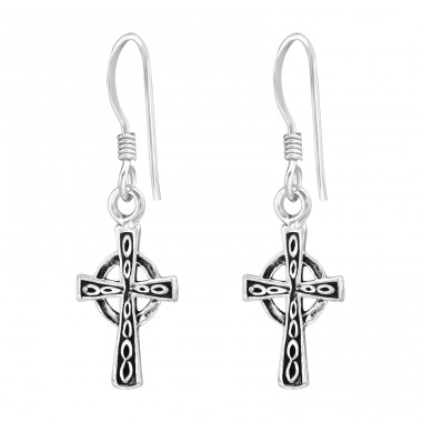 Cross - 925 Sterling Silver Basic Earrings A4S39120