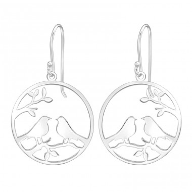Love Birds - 925 Sterling Silver Basic Earrings A4S39201