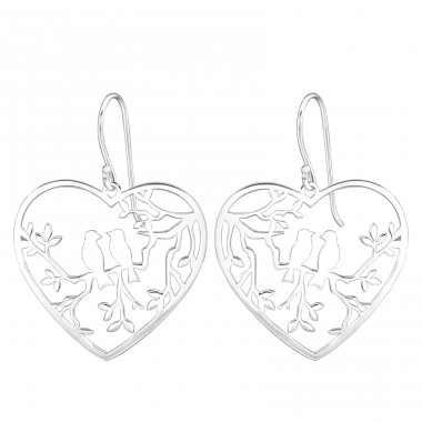 Love Birds - 925 Sterling Silver Basic Earrings A4S39202