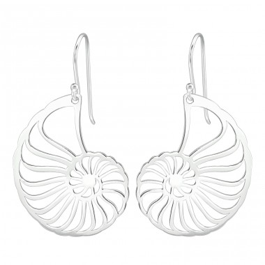 Spiral - 925 Sterling Silver Basic Earrings A4S39205