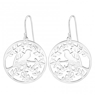 Bird - 925 Sterling Silver Basic Earrings A4S39209